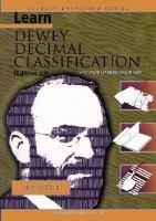 Book-Learn Dewey Decimal Classification