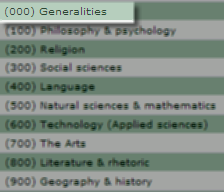DDC Classes (000) Generalities