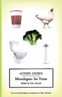 Actor's choice monologues for teens