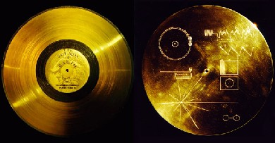 Image of Voyager Golden Record by NASA