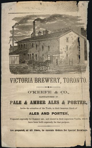 Victoria Brewery ad 1865 business directory p136