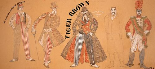 Costume designs for Jonathan Jeremiah Peacham and Tiger Brown