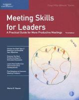 Meeting Skills for Leaders