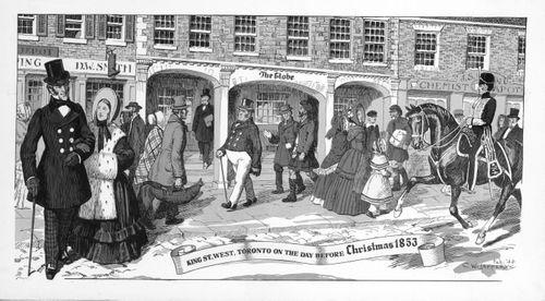 Rue King ouest, Toronto, la veille de Noël 1853