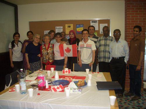 English conversation circle group at Flemingdon Park Library