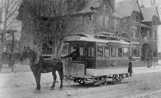 Rue Spadina entre College et Bloor vers 1895
