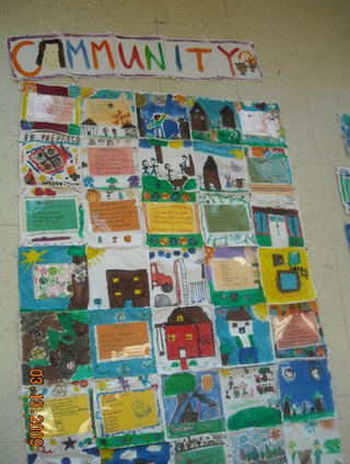 Even Children can make a quilt out of paper!