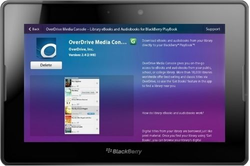 OverDrive Mobile App for BlackBerry Playbook