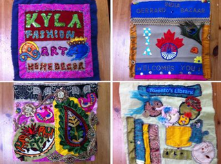 Patches from the Social Fabric Project Community Quilt