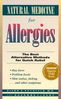 Natural Medicine for Allergies by Glenn S. Rothfeld