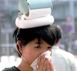 Silly hay fever hat