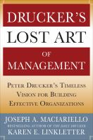 Drucker's Lost Art of Management