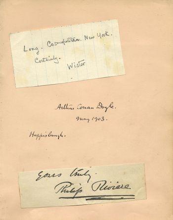 Conan Doyle signature