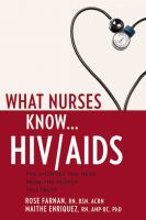 What nurses know - HIV - AIDS