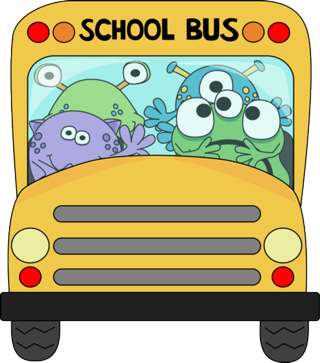 Monsters-on-school-bus