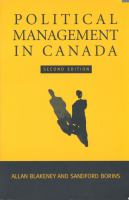 Political Management in Canada 2nd ed