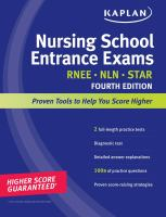 Nursing school entrance exams 4th ed