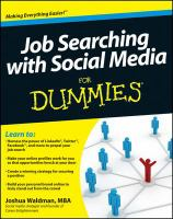 Job Searching with Social Media for Dummies eBook