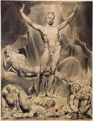 Paradise Lost (Lucifer) illustration by William Blake