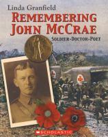 Remembering John McCrae soldier doctor poet