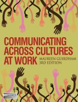 Communicating Across Cultures at Work _ Maureen Guirdham