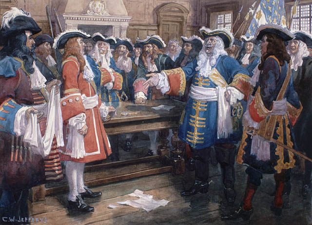 Frontenac_receiving_the_envoy_of_Sir_William_Phipps_demanding_the_surrender_of_Quebec,_1690