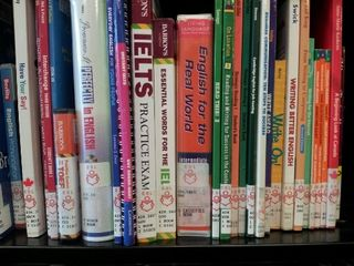 ESL section at the library