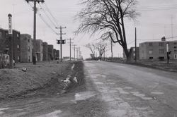 Keele St. looking north from Wandle Ave., 1955