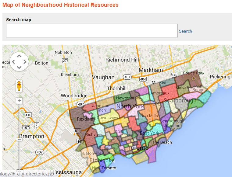 Toronto Neighbourhood Map