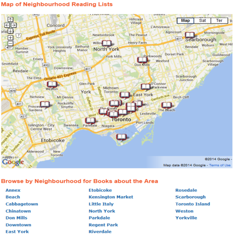 Neighbourhood Reading Map