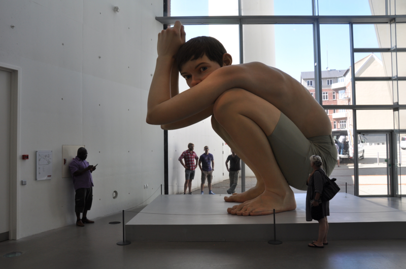 Ron Mueck's Boy at the ARoS museum, Aarhus Denmark. Photo by Dan Riskin