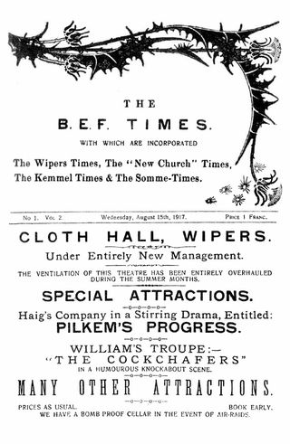 Wipers Times Cloth Hall play