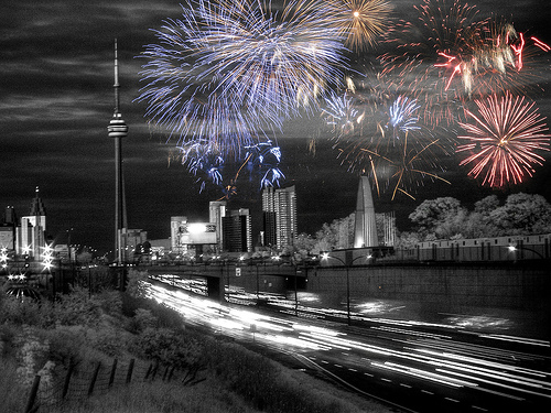 Victoria Day Fireworks in Toronto