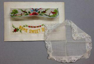 Home sweet home WW1 silk postcard
