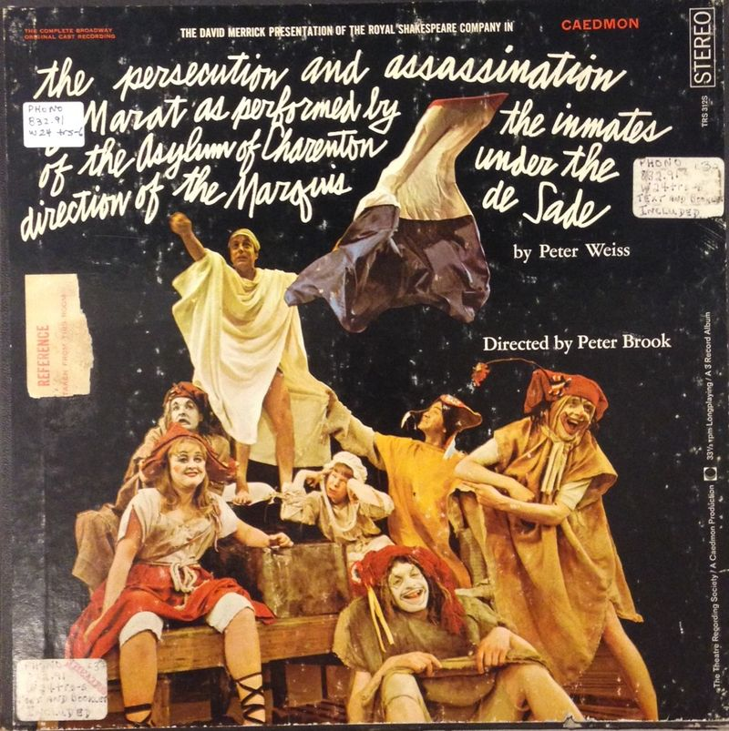 MaratSade Peter Brook production LP