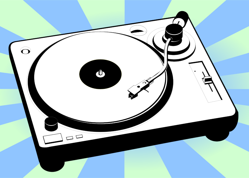 Audiospllice turntable from openclipart dot com