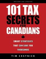 101 tax secrets for Canadians  smart strategies that can save you thousands