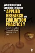 What counts as credible evidence in applied research and evaluation practice