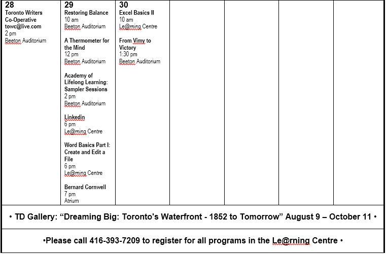September Programs 4