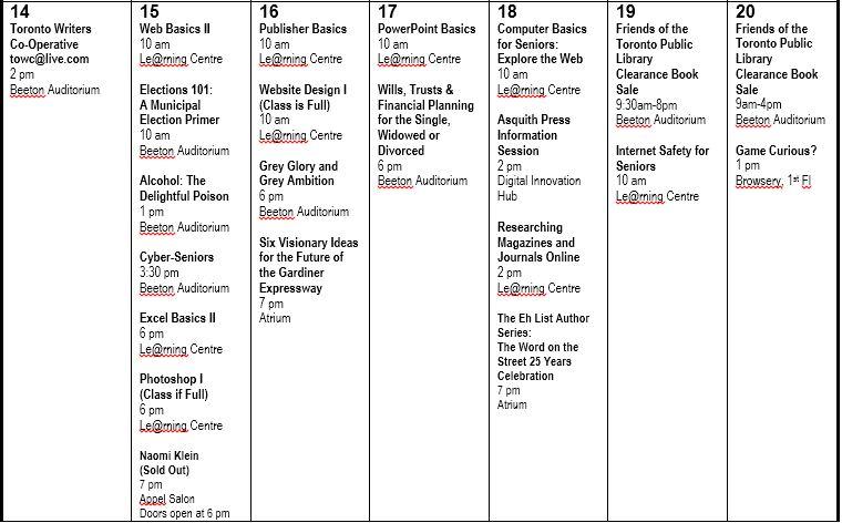 September Programs 2