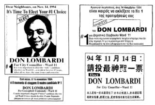 Lombardi Ward 11 Scarborough 1994