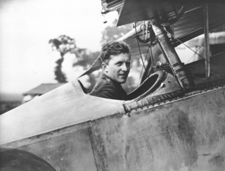 Captain William A. Bishop, seated in the cockpit of his Nieuport Scout, on August 6, 1917