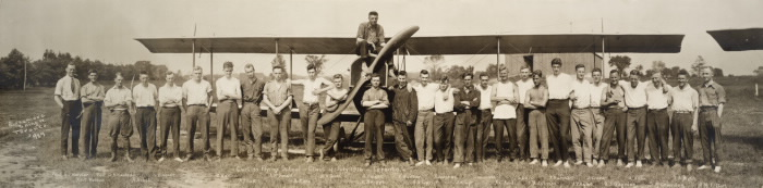 Curtiss Flying School-Class of July 1916-Toronto.; Also inscribed in the photograph with names of individuals.