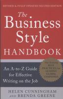 Business style handbook