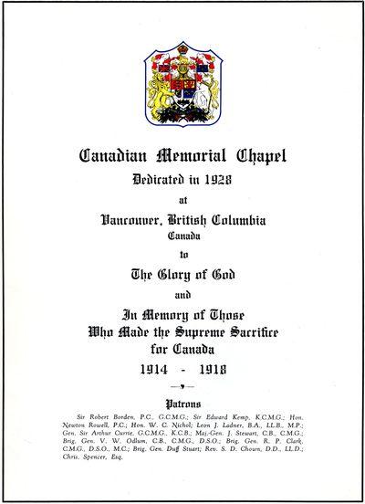Canadian Memorial Chapel