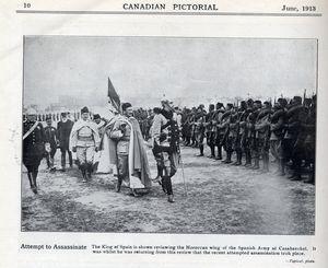 Assassination Attempt in Spain 1913