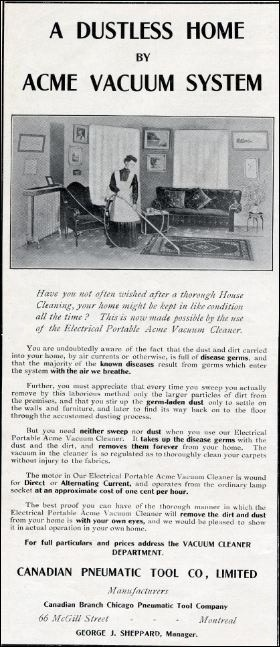 A Dustless Home by Acme Vacuum 1909