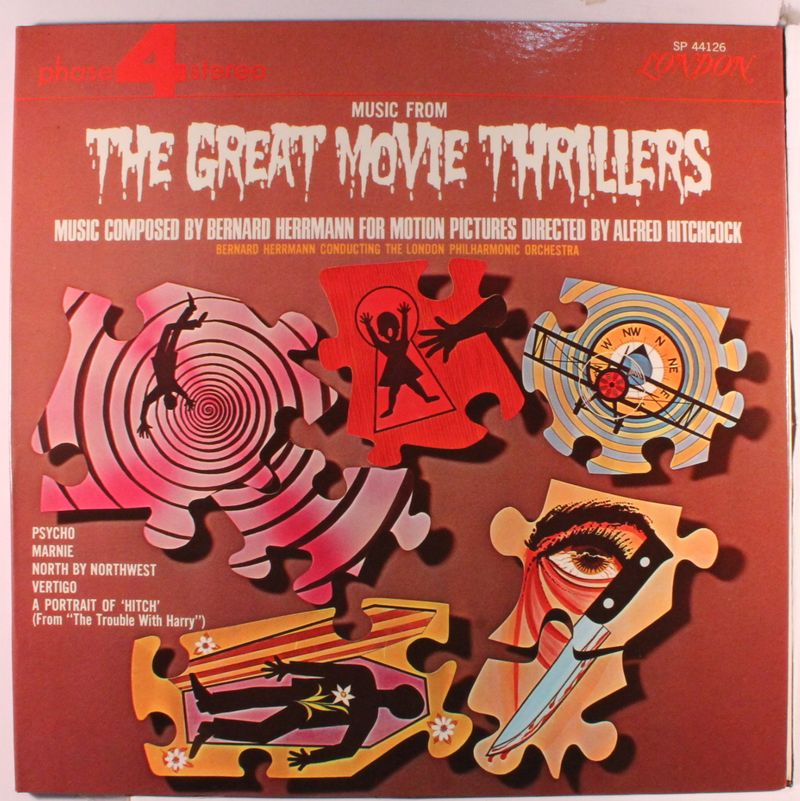 Music from the great movie thrillers music composed for motion pictures directed by Alfred Hitchcock