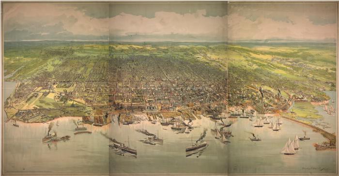 Bird's Eye View of Toronto 1893