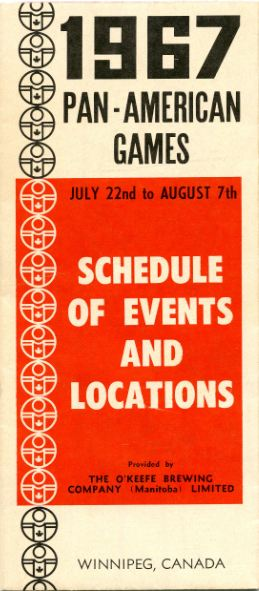 Pan Am Games Schedule of Events and Locations 1967